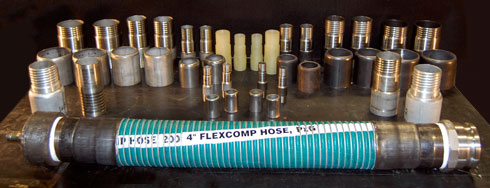 Image of a table with Hoses and Fittings